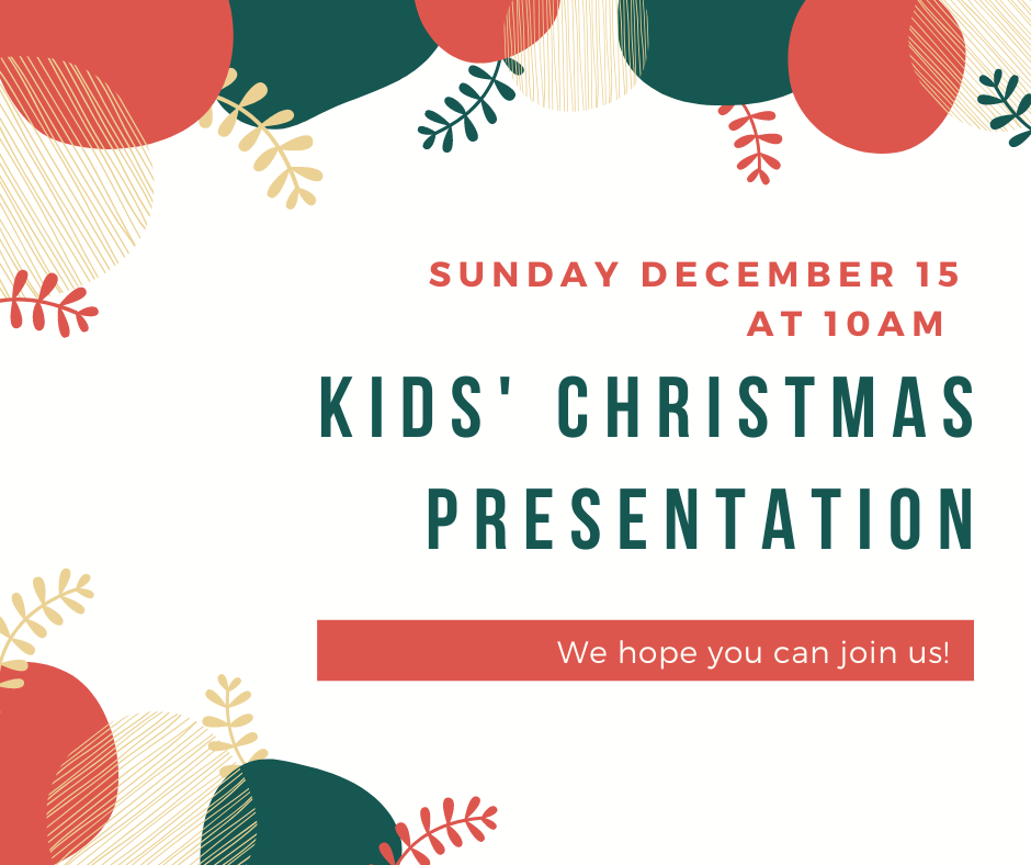 Kids Christmas Sunday